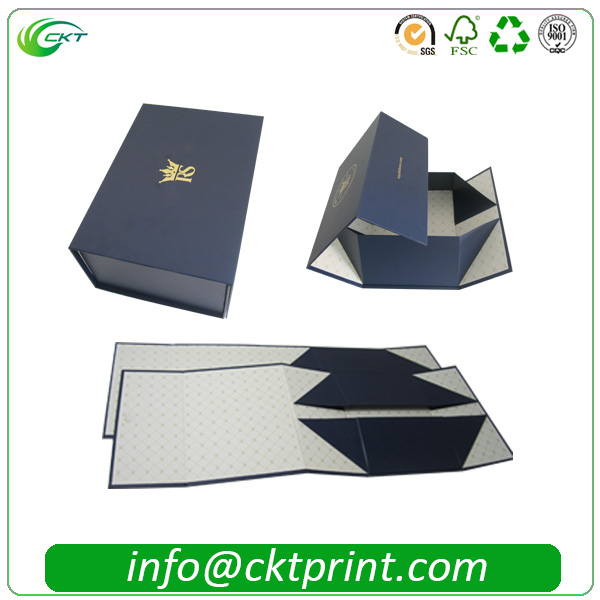 high-end paper rigid gift box magnetic custom foldable packaging