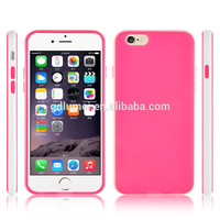 Colorful slim soft TPU bumper shockproof gel case flexible silicone cover for iPhone 6/ 6 plus