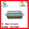 2014 hot sell R7S led bulb SMD5050 new arrival 54 beads WITH CE,ROHS