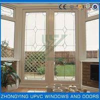 Balcony style pvc sliding screen windows