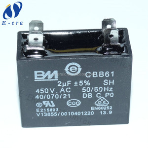 cbb61 capacitor 450vac 2uf Fan start capacitor 5% shenzhen wholesale