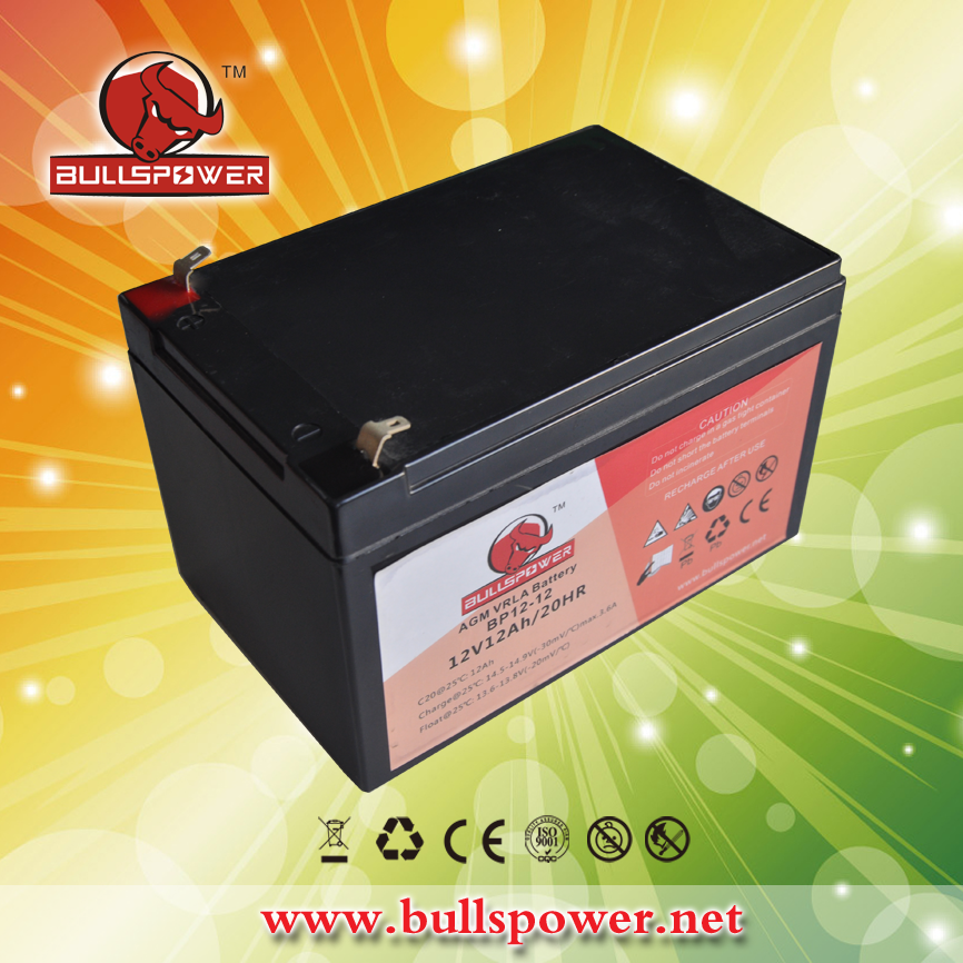Lead acid rechargeable storage battery ups 12v12ah
