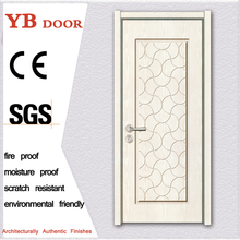 SGS Certificate nigeria composite modern from entry wooden pvc single panel door