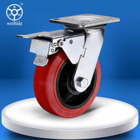 125mm 200kg silence Indoor Casters Swivel Castor Wheel with Brake