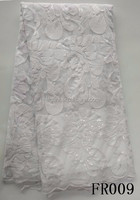 embroidery white african french lace fabric for wedding veil and dress