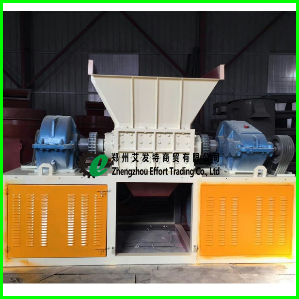 Double Shaft Shredder Machine Textile Aluminum Can Scrap Metal Cardboard Wood Plastic Waste Shredders