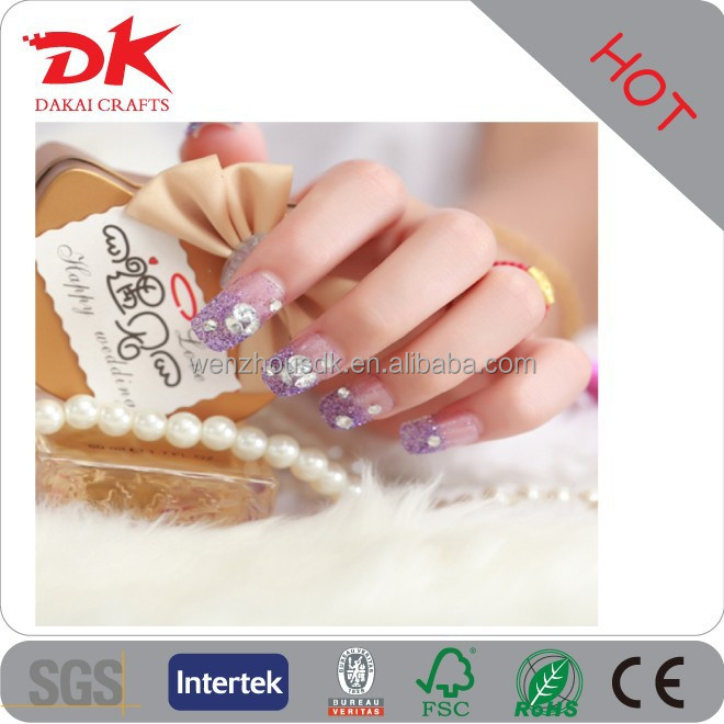 Beautiful rhinestone colorful 3D stickering bow nail arts design