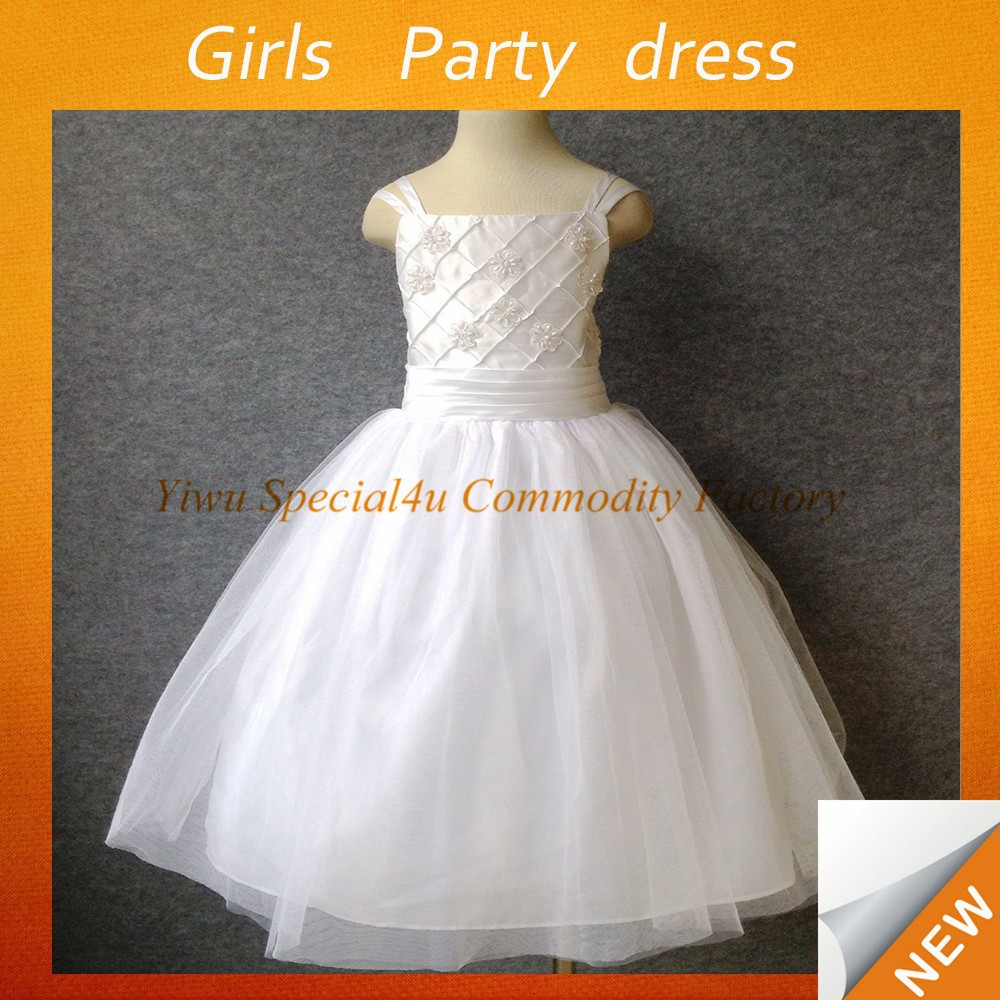 New Arrivals Kids Fashion Clothes Baby Wear Clothing White Summer Dress Lace Princess Party Girls Dress SPSY-794