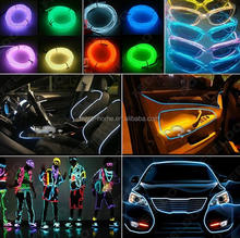 New design 3M Flexible EL Wire Tube Rope Battery Powered Flexible Neon Light for Car Party Wedding Decoration / EL Wire Tube Ro