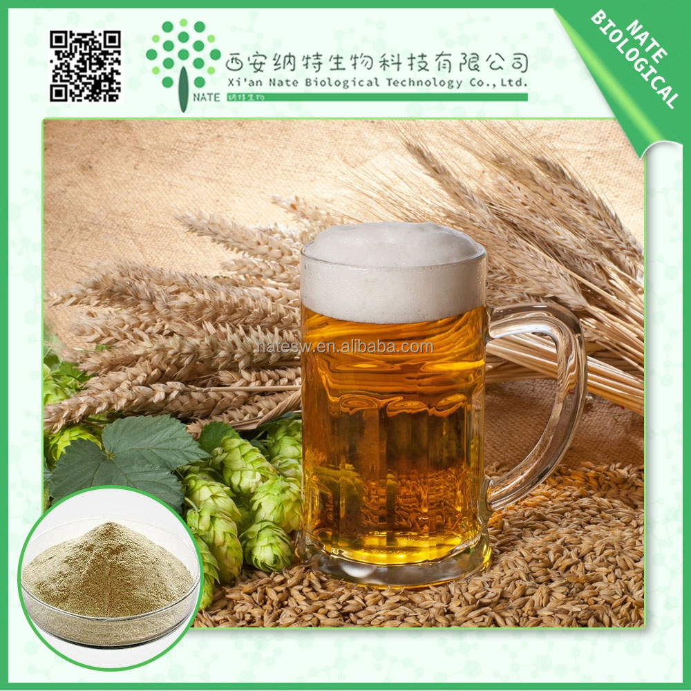 TOP quality Humulus lupulus extract/free sample hops for beer powder /flavone 5%European Hop Spike Extract
