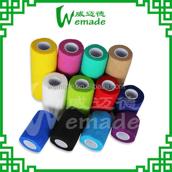 wholesale ce/fda black color nonwoven cohesive elastic bandage