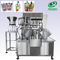 Automatically bag feeding stand up pouch filling machine