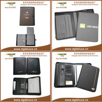 fashion two pocket portfolios with leatherette covers and with custom design