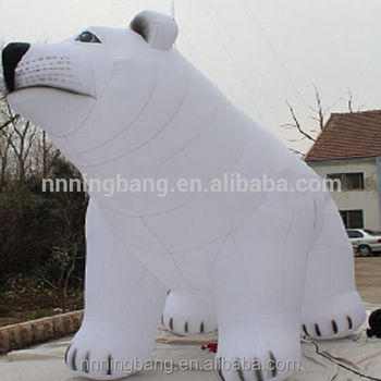 hot sell inflatable polar bear inflatable animal bear for decoration