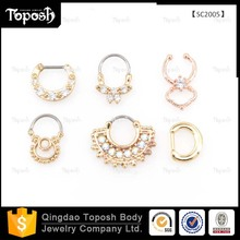 Nickel Free 316 L Stainless Steel Gold India Nose Ring Nose Hoop Piercing