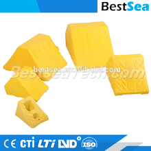 Truck wheel chock with PU filling foam, car wheel chock holder