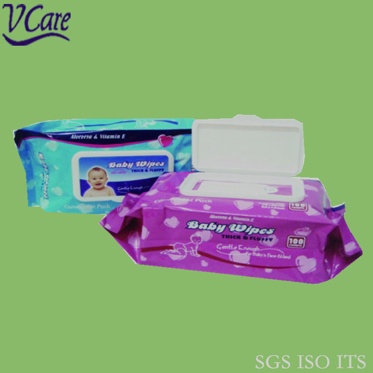 Good Quality Hand and Mouth Cleaning Baby Wipe With Plastic Case