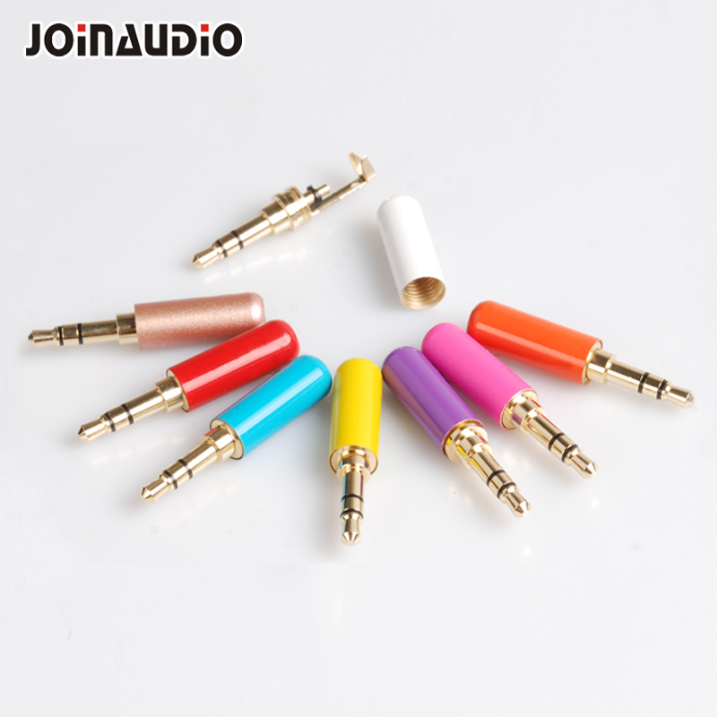 Colorful Mini 3.5mm Jack 4 Pole Stereo Plug gold plated