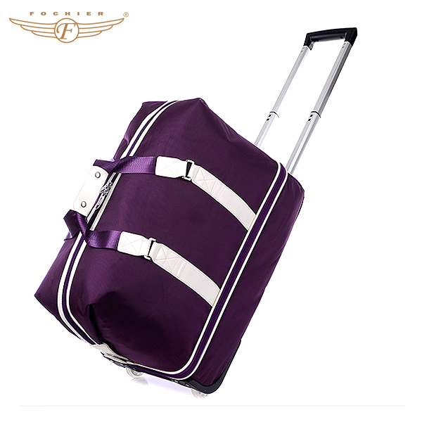2014 nylon travel duffel bag with wheels