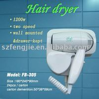 Over heating protected electric hair dryer