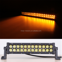 Hot sale Auto LED Bar,Bi-color light:Amber and white,you can change color by harness wire.Amber can use in the snow, rain, fog.