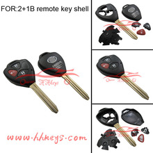 Hot sale auto key casing for Toyota 2+1 buttons carr remote flip key shell