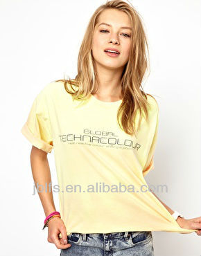 OEM Women Cotton Tshirt in Chinese Clothing Manufacturer 2013