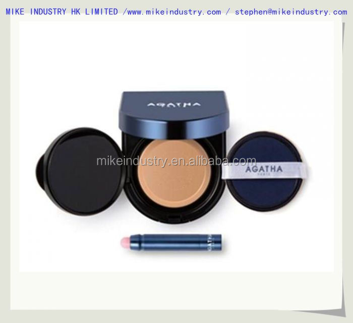 2017 luxury gold air cushion bb foundation case / container / packaging / packing / box with mirror