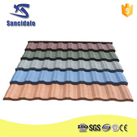 2015 hot sell hight quantity colorful stone cover roofing sheets /stone roof panels / stone coated metal roof tile made in china