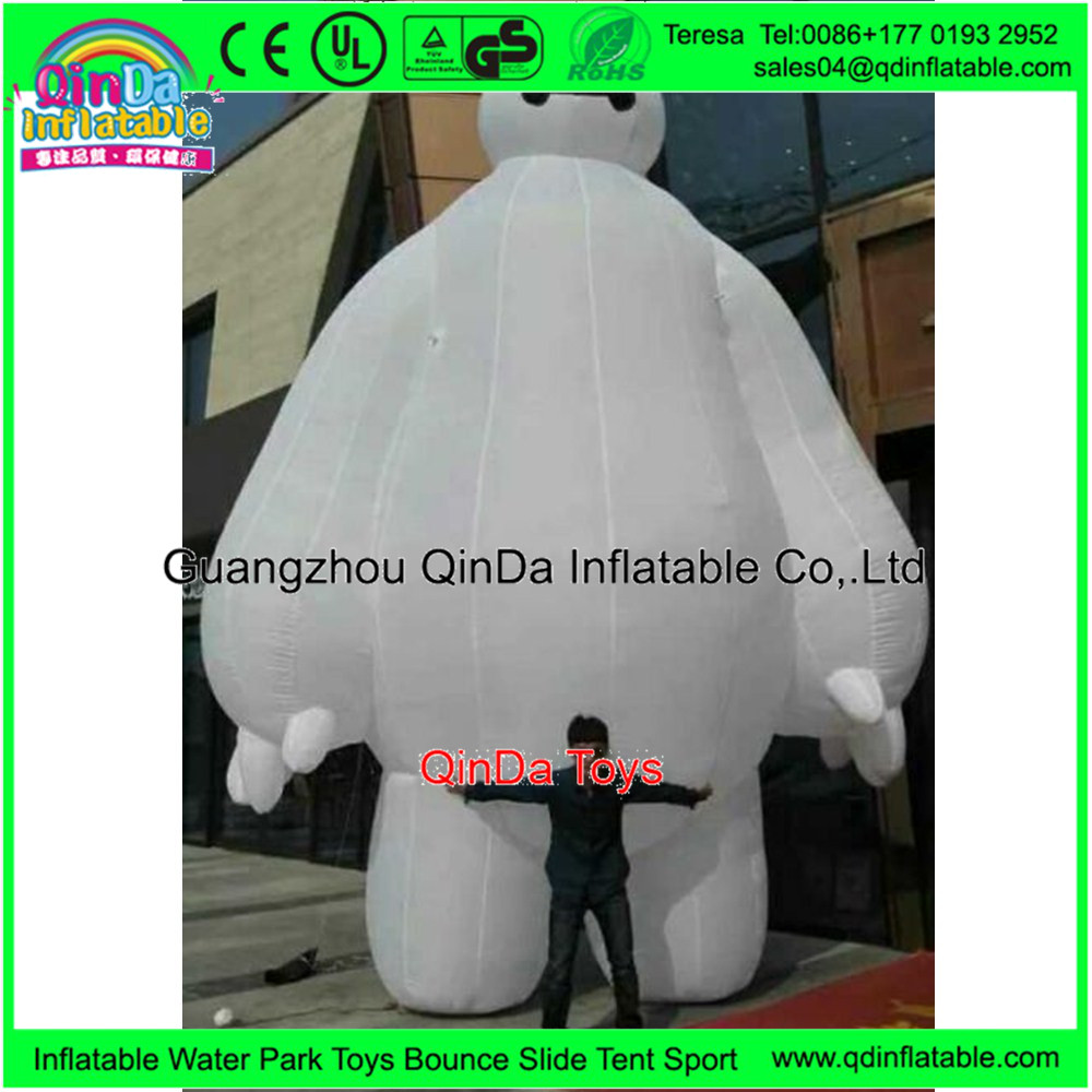 Super Cute Baymax Mascot Costume Wholesale Happy New Year Inflatable For Christmas Outdoor Decorations