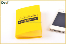PP plastic yellow Name card bag/ pvc card pouch
