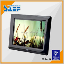 Factory wholesales 8 inch wall mount digital display photo frame with clock/alarm clock/calendar