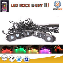 Offroad Bluetooth Control RGB 9W/8pod led rock light under car for Jeep/offroad/truck
