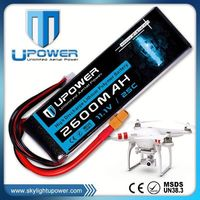 upower 25c 11.1v airsoft gun battery lipo 11.1v 2600mah rc helicopter boat airplane battery