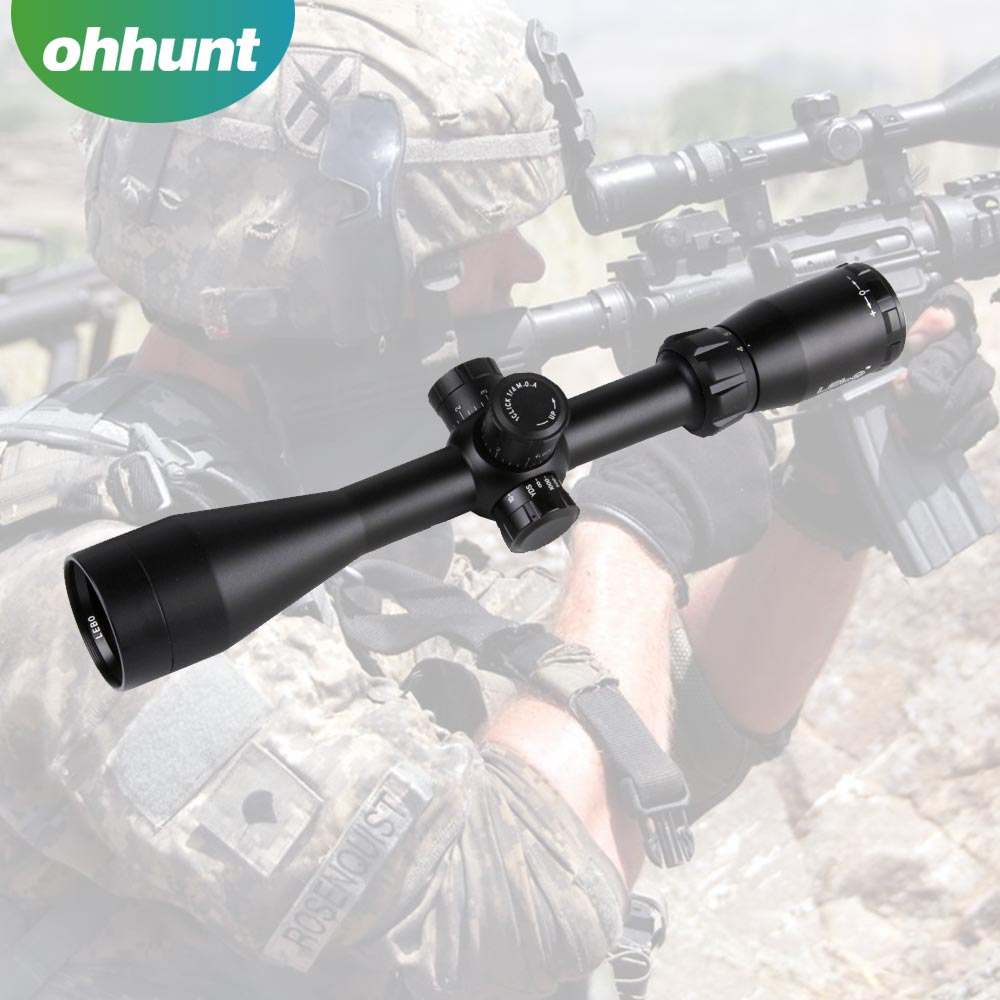 "Hunting Tactical LEBO 4-16x44 scope P4 Reticle 1"" single-tube Ridgeline RifleScope by Accu-Lock black matte finish optical sight"