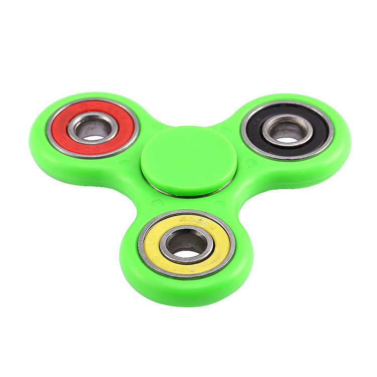 CE Certification Ceramic Ball Tri-spinner Mental Hand Spinner Toys Colorful Relieve Stress Fidget Spinner