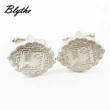 China manufacturer custom mens metal suit shirts cufflink for sale