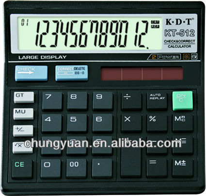 12 digits calculator price, check and correct calculator with pen KT-512