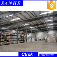 Cheap prefabricated steel structure warehouse for construction and real estate