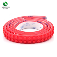 1m movable Silicone legos magic belt with backside adhesive tape for Children DIY Playing Puzzle