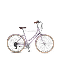 GB3063 700c Comfort cheap Classic CR-MO frame City Bike Lady Bike