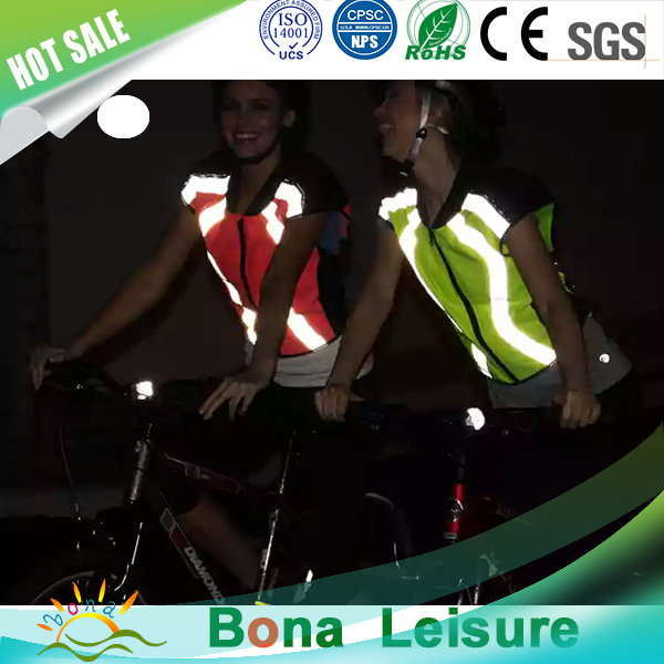 Perfect workmanship cycling vest,pink reflective safety vest with high visibility tape