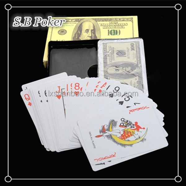 dollar poker, CMYK full colors printing playing cards