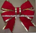 24 Inch Large Red Outdoor Velvet 3D Structural Christmas Ornament Bow Tie Knot