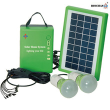 portable 5w dc solar home lighting kit