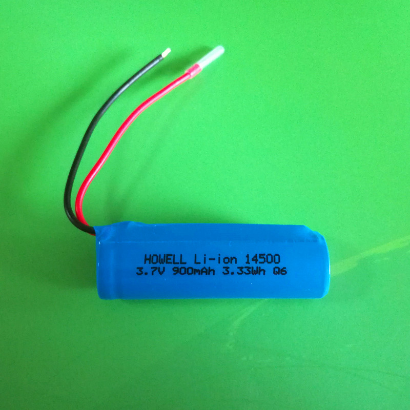 IEC62133 UN38.3 approved 14500 3.7v 900mah li-ion battery /3.7v icr 14500 li-ion rechargeable battery