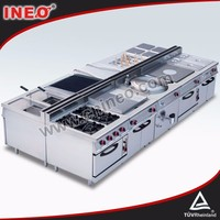 Professional stainless steel stove and range/cooking burner