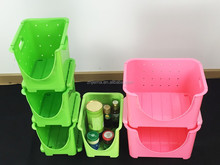 Plastic Fruit vegetable organized storage tray plate basket for household kitchen use