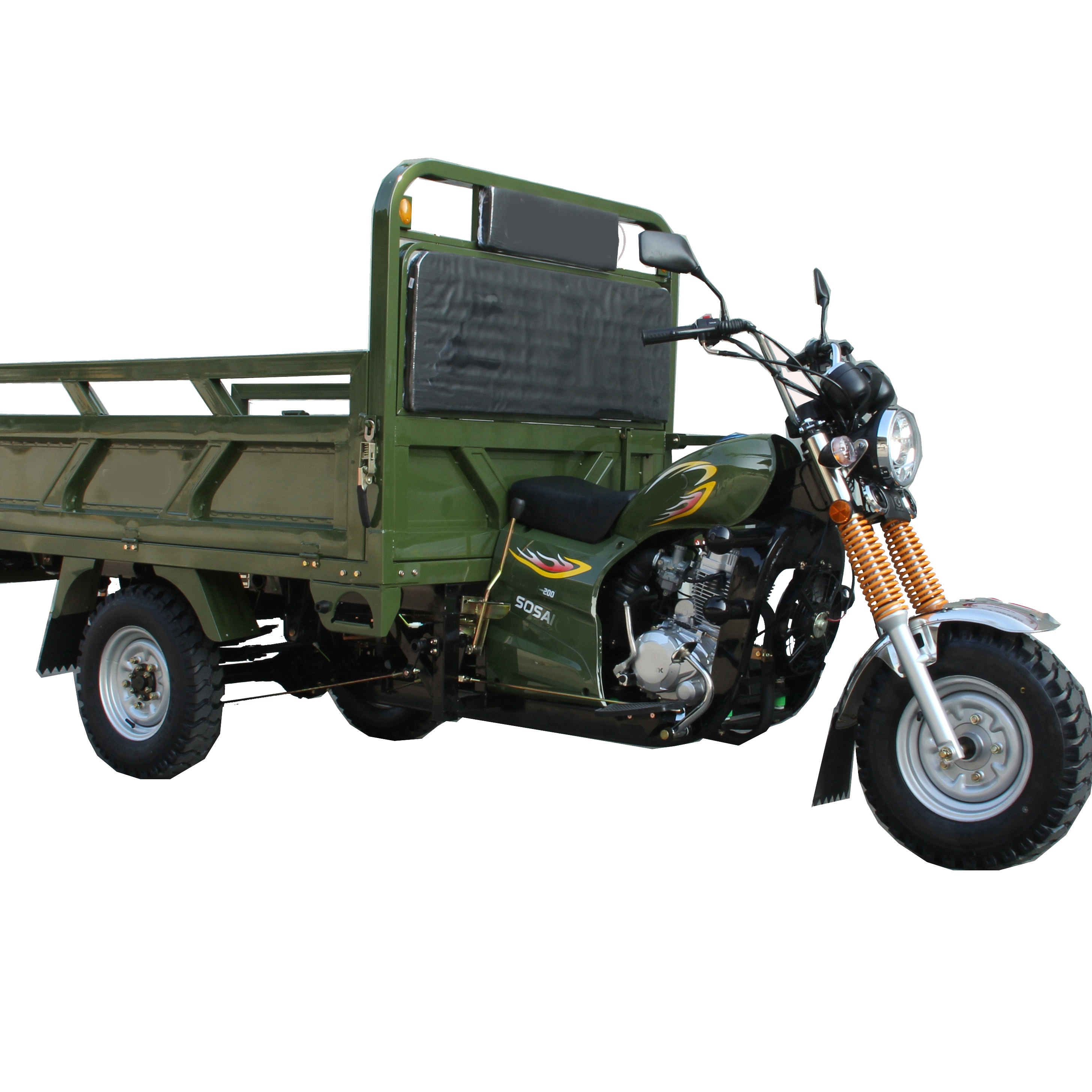 SP200-T Euro I Drum Brake Tricycle / Cheap China Good Quality Three Wheel Cargo Motorcycle Dirt bike Moto