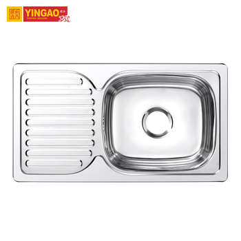 China supplier Stainless steel 304 kitchen sink with draining board